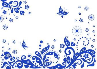Blue visiting card