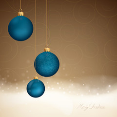 Vector Elegant Christmas Background with Baubles