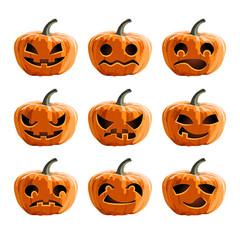 Set vector pumpkins for Halloween