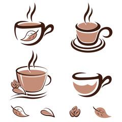 Kaffee, Tee, Kakao - icons