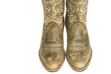 Ladies Brown Western Cowboy Boots