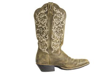 Ladies Brown Western Cowboy Boot
