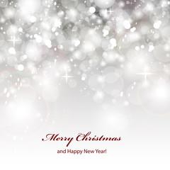 Silver Festive Christmas Background - Vector Illustration