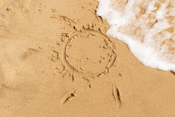sun paint the sand