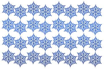 Doodle Schneestern Muster für Hintergrund