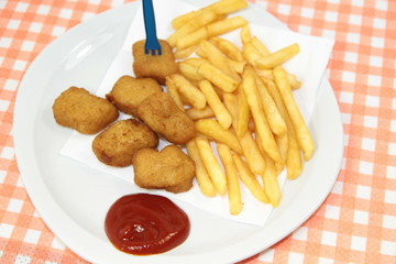 Wall Mural - nuggets de volaille