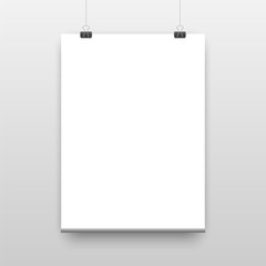 Vector poster template of a paper sheet