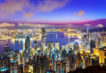 Hong Kong skyline at morning