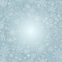 winter background with snowflake illustration