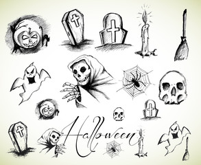 Halloween drawings collection
