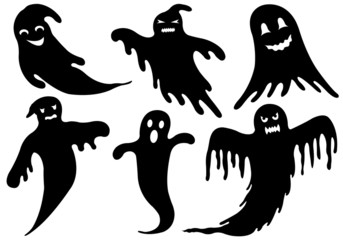 Illustration of different ghosts