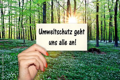 """""""umweltschutz geht uns alle an!"""" stockfotos und"""