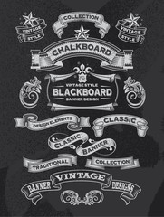 Chalkboard banners and ribbons