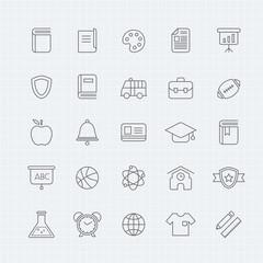 education vector thin line symbol icon