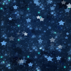Obraz christmas stars on blue   background - fototapety do salonu