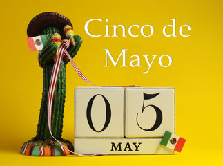 Save the date vintage for Cinco de Mayo, May 5.