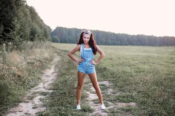 Summer pinup girl