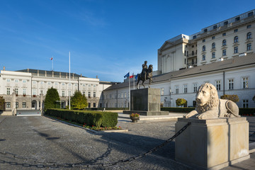 Presidential Palace in Warsaw, Poland.