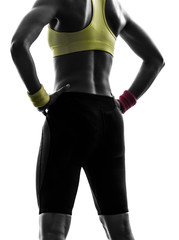 Wall Mural - close up buttocks woman exercising fitness workout  silhouette