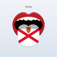 Jersey language. Abstract human tongue.