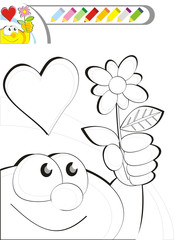 COLORING BOOK SKETCH: A flower for my mom