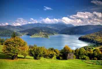 Beautiful autumn lake