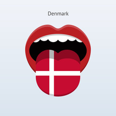 Denmark language. Abstract human tongue.