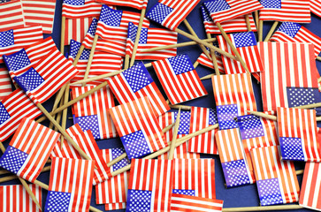 USA Stars & Stripes toothpick flags background