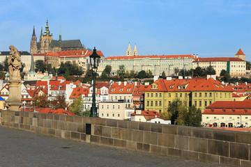 Papiers peints Prague Autumn Prague gothic Castle from the Charles Bridge