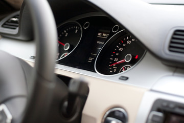 Speedometer on a new car