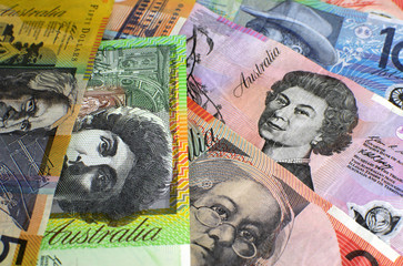 Australian paper money for wealth concept
