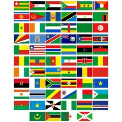 Flags of the countries of Africa