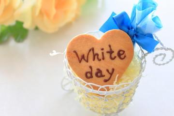ホワイトデーのハートクッキー