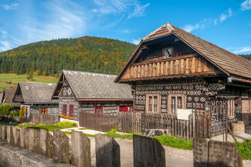Wooden Houses in Village Cicmany