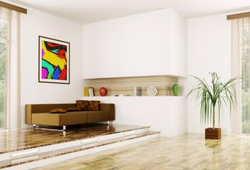 Interior of modern room 3d render