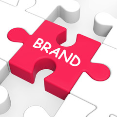 Brand Jigsaw Shows Branding Trademark Or Product Label