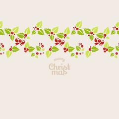 Seamless garland of mistletoe