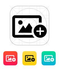 Add photo icon.