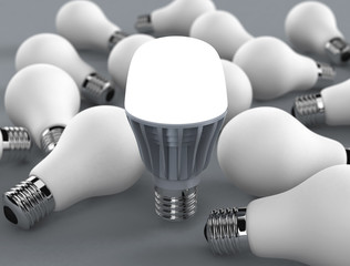 Led buld and incandescent lamps