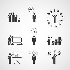 Figures, People's Icons - Business Concept Design