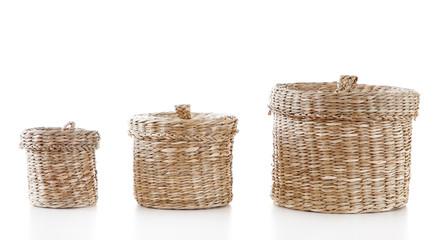 Traditional wicker baskets