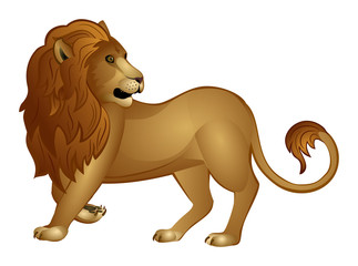 Decorative lion isolated