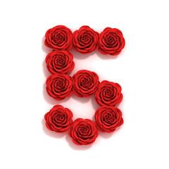 rose font number 5