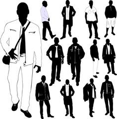 fashion men collection - vector
