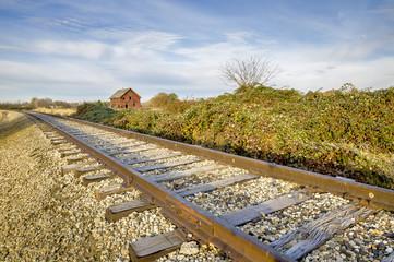 Old homestead along the railroad tracks