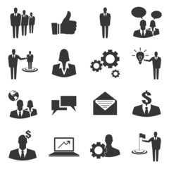 Set of business vector icon on white background