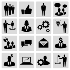Set of business vector icons