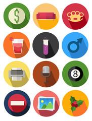 round icons set 10