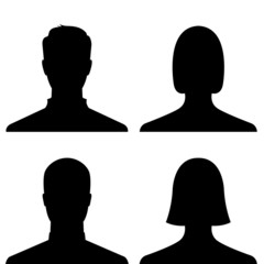 People profile picture icon set