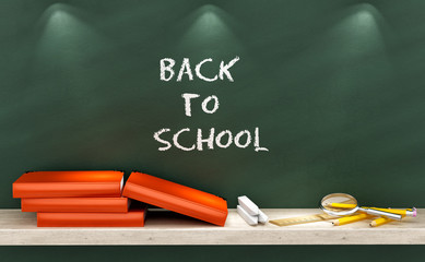 render of a Back to School background